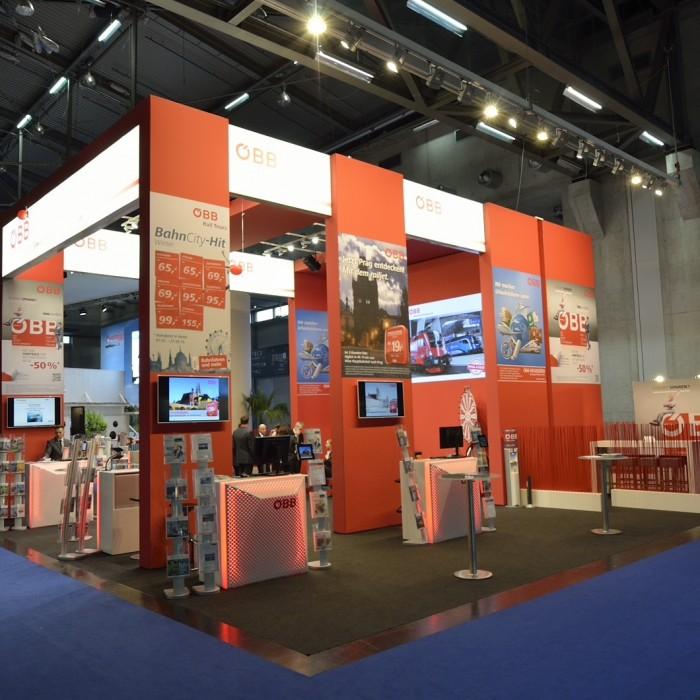 ÖBB Ferienmesse 2015, Messebau by KOOP Live Marketing Messen in Graz, Wien, Steyregg/Linz