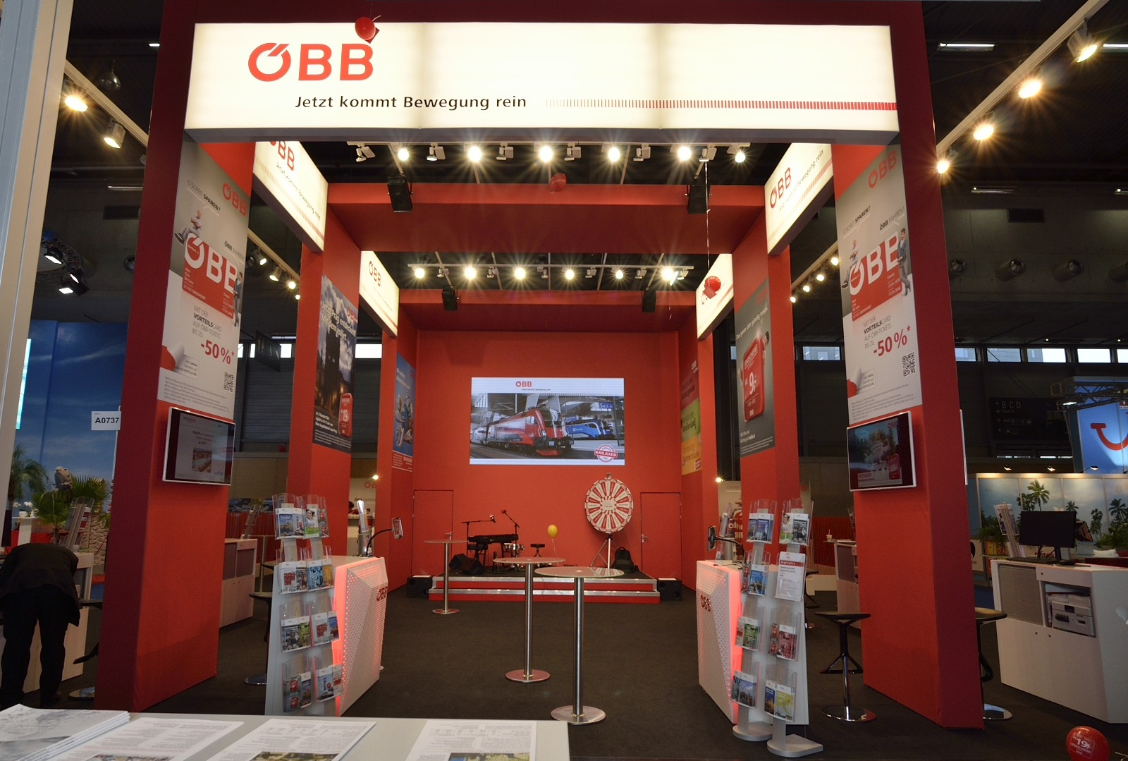 ÖBB Ferienmesse 2015, Messebau by KOOP Live Marketing Messen in Graz, Wien, Steyregg/Linz