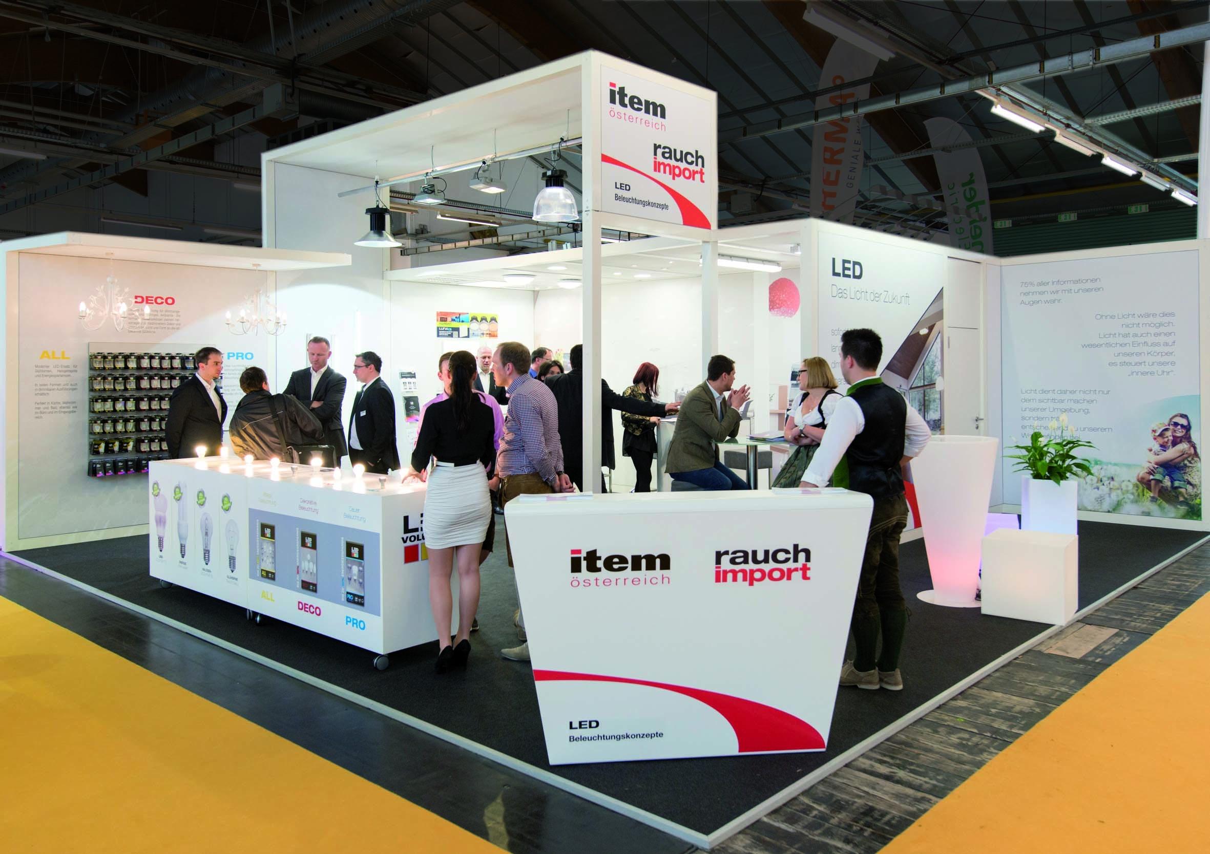 ITEM International LEDvolution auf der Energiesparmesse Wels 2014, Messebau by KOOP Live Marketing Messen in Steyregg/Linz