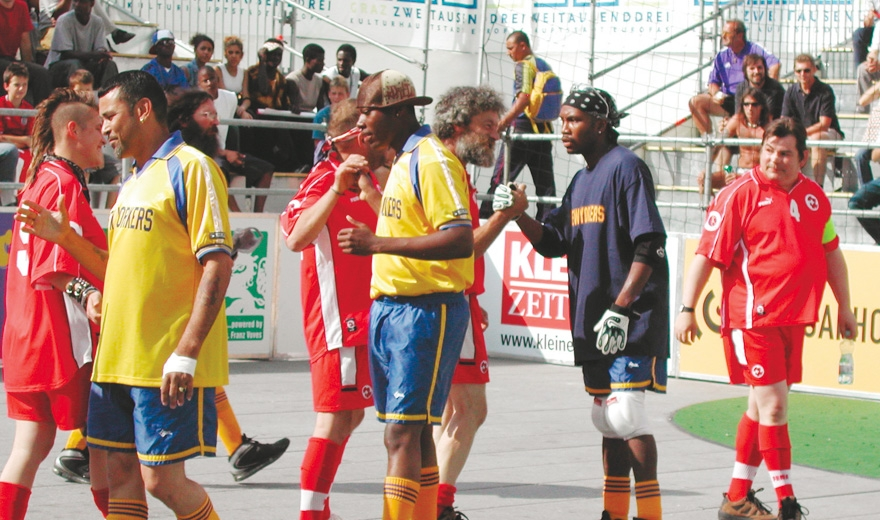 Caritas & Megaphon & INSP Homeless World Cup, Eventorganisation by KOOP Live Marketing Eventagentur in Graz