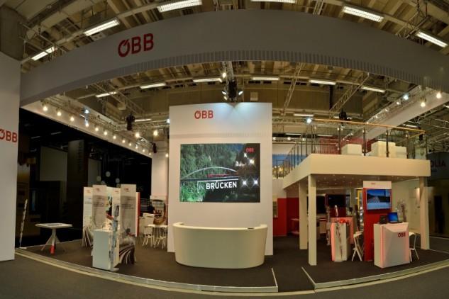 ÖBB auf der Innotrans 2014, Messebau by KOOP Live Marketing Messen in Graz, Wien, Steyregg/Linz