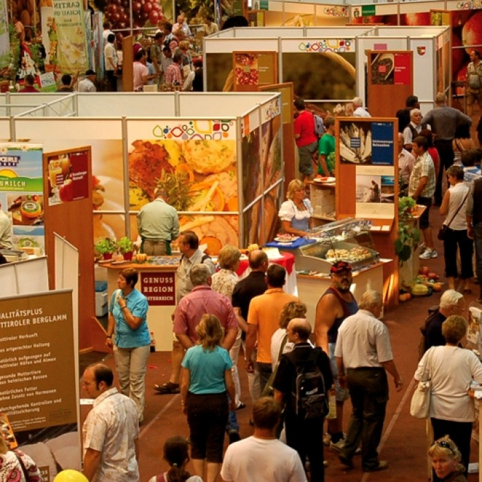 Sery und Genussland Herbstmesse AGRARIA Wels, Messebau by KOOP Live Marketing Messen in Steyregg/Linz