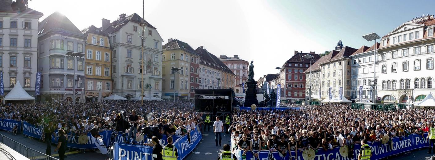 SK Puntigamer Sturm Graz Meisterfeier, Eventorganisation by KOOP Live Marketing Eventagentur in Graz