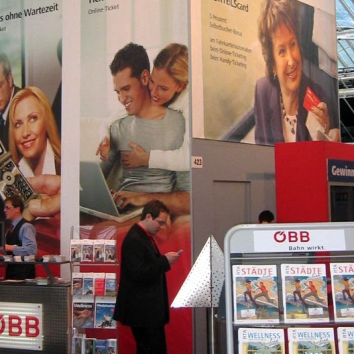 ÖBB Messestände, Messebau by KOOP Live Marketing Messen in Graz, Wien, Steyregg/Linz