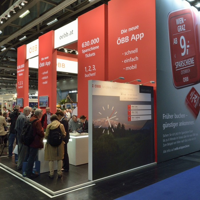 ÖBB Ferienmesse 2016, Messebau by KOOP Live Marketing Messen in Wien