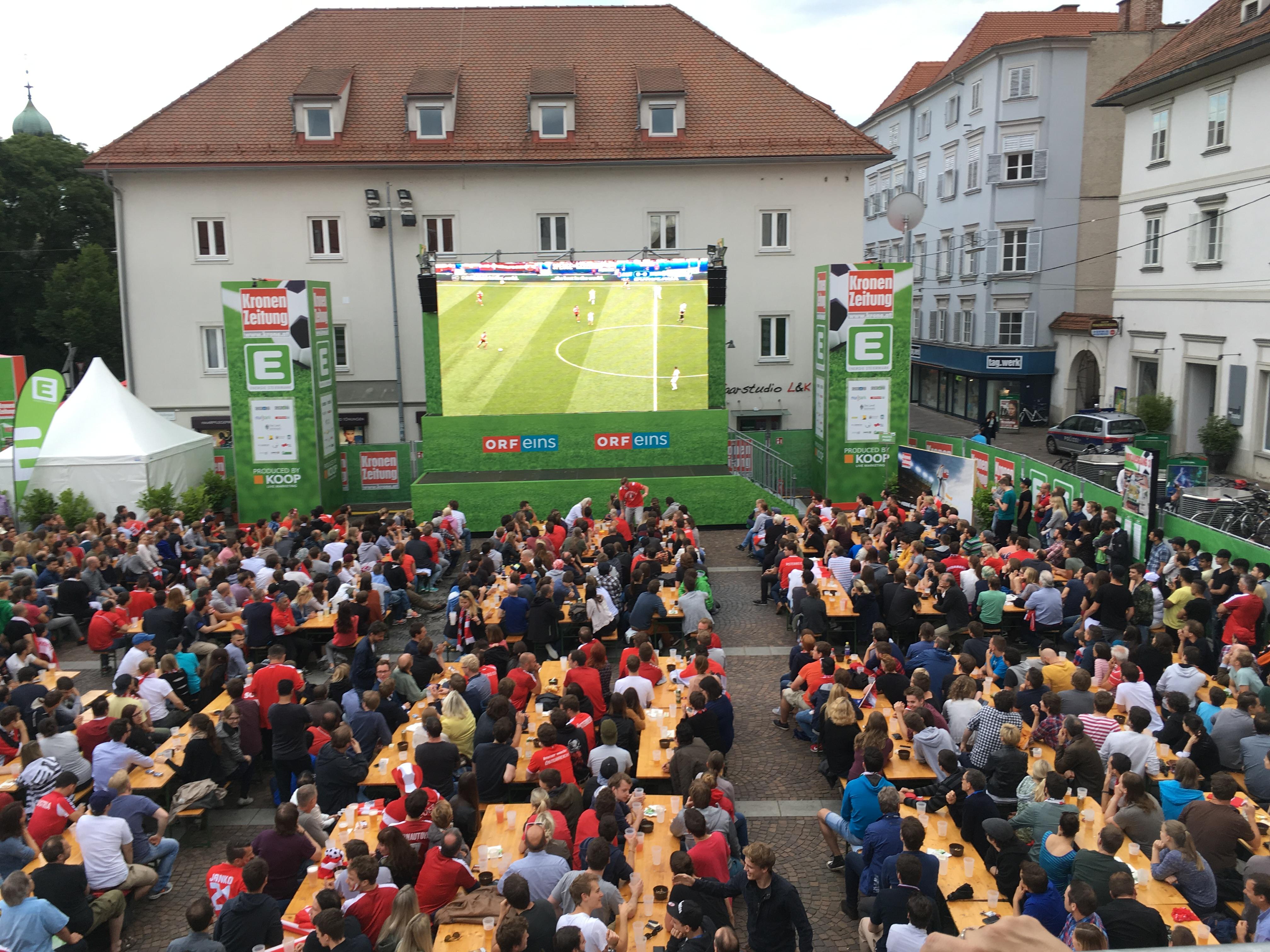 KRONE´´ - Fan Zone - Eventmarketing by KOOP Live Marketing Graz
