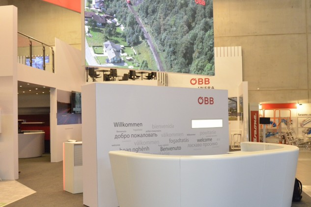 ÖBB InnoTrans Berlin, Messebau by KOOP Live Marketing Messen in Graz, Wien, Steyregg/Linz