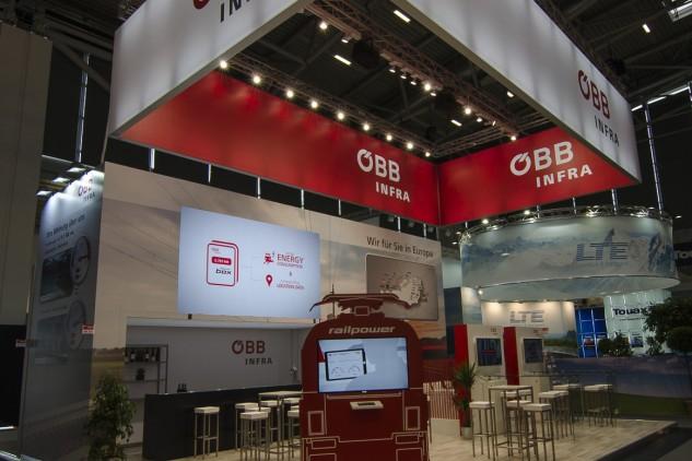 ÖBB auf der Transport Logistic Messe 2017, Messebau by KOOP Live Marketing Messen in Graz, Wien, Steyregg/Linz