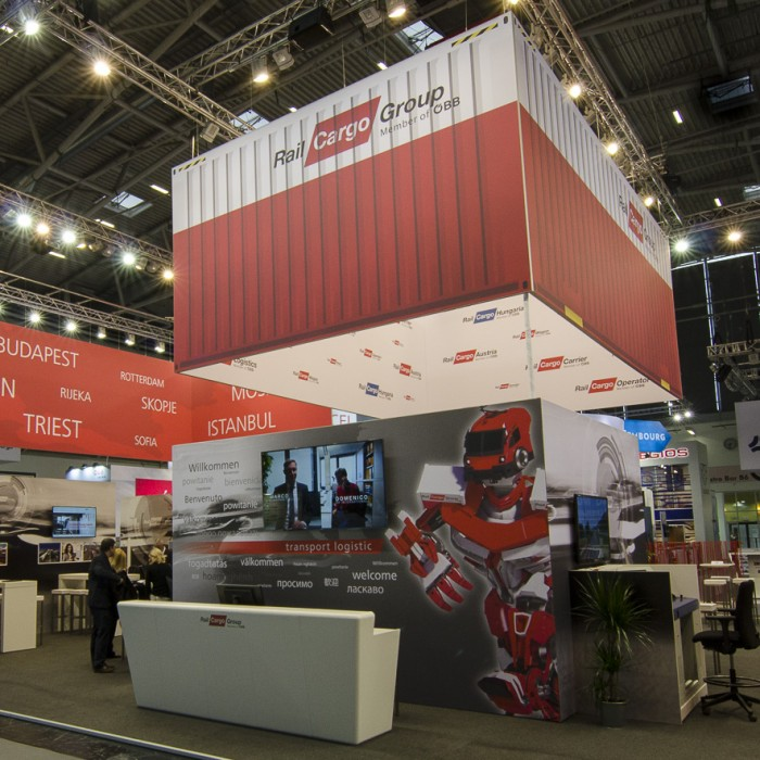 ÖBB auf der Transport Logistic Messe 2017, Messebau by KOOP Live Marketing Messen in Graz, Wien, Steyregg/Linz