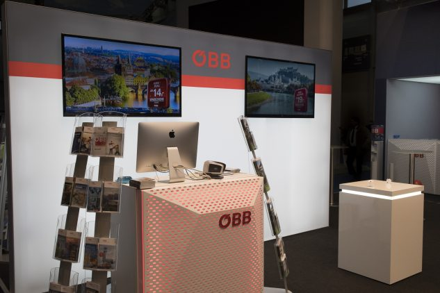 ÖBB auf der Ferienmesse, Messebau by KOOP Live Marketing Messen in Wien
