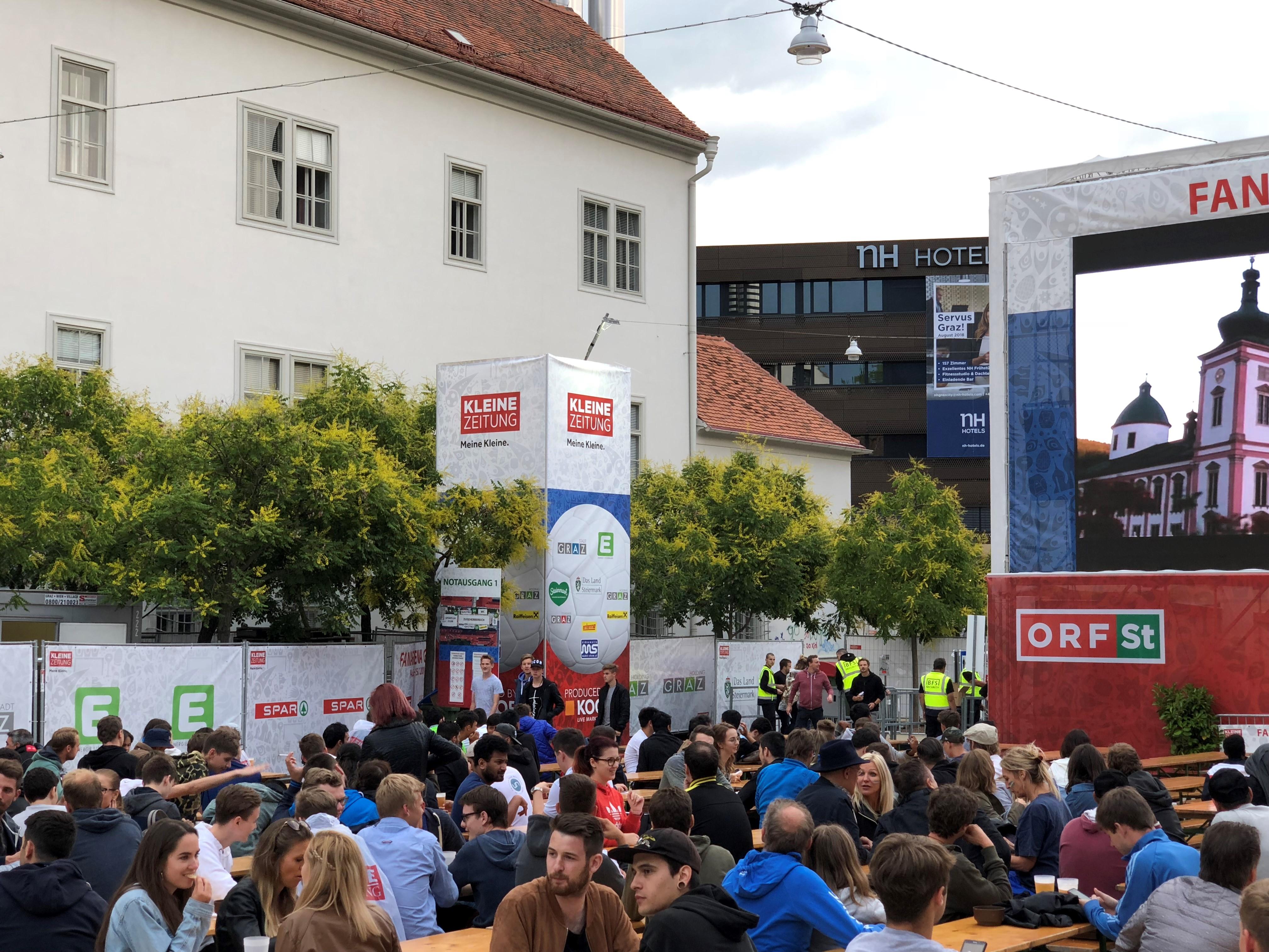 WM Public Viewing Graz, Eventorganisation by KOOP Live Marketing Eventagentur in Graz