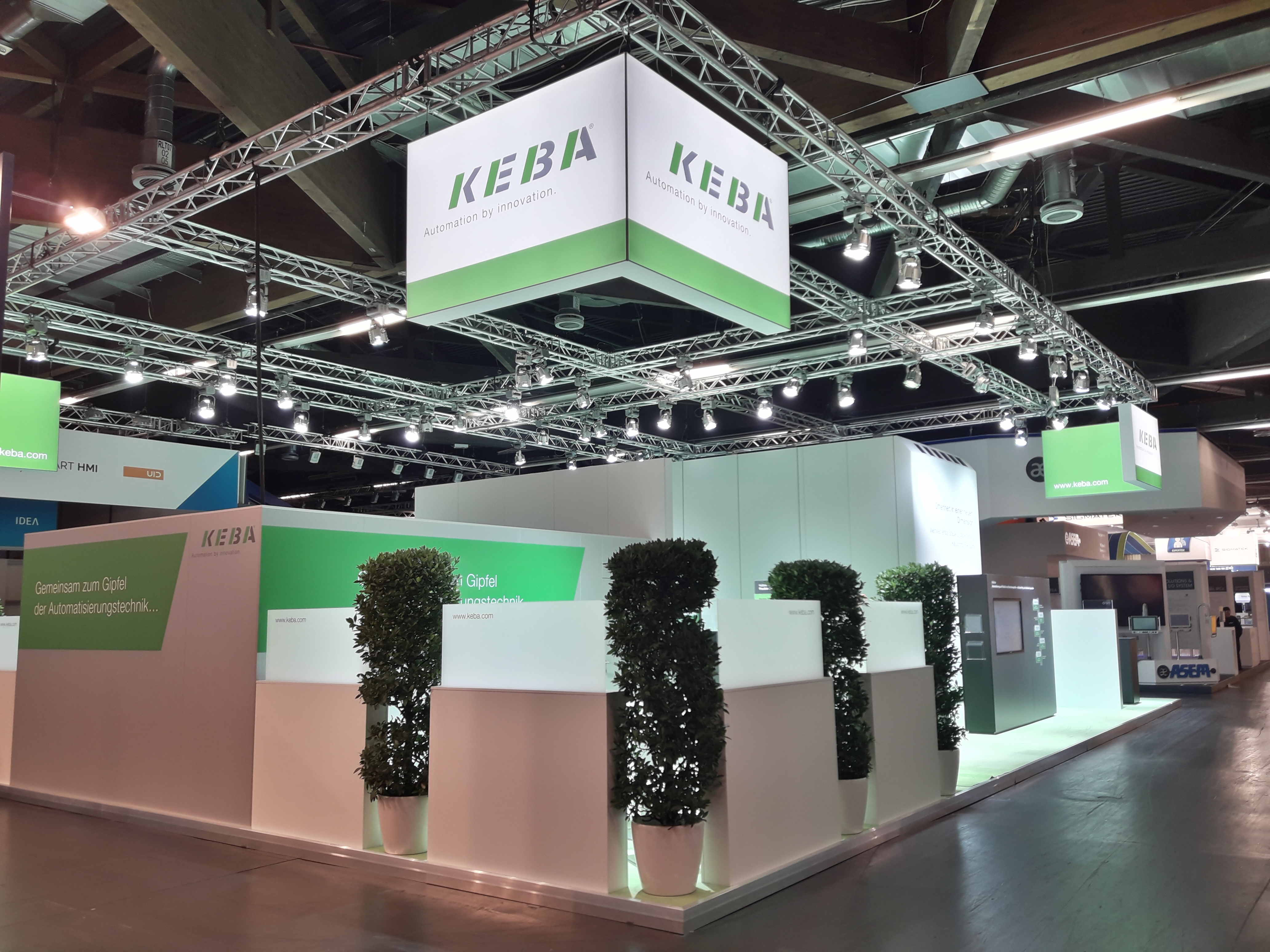KEBA auf der SPS 2017 in Nürnberg, Messebau by KOOP Live Marketing Messen in Graz, Wien, Steyregg/Linz
