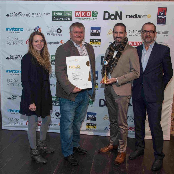 2 x Gold, 2 x Silber Event für KOOP Live Marketing, Event Award 2018